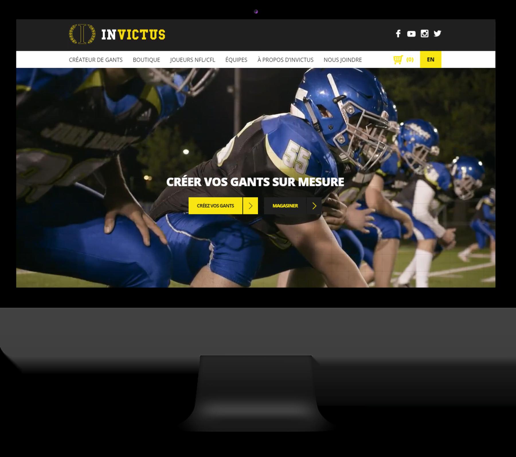 Invictus Gloves – Site Web