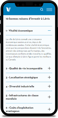 Un site web adapté aux besoins de Ville de Lévis