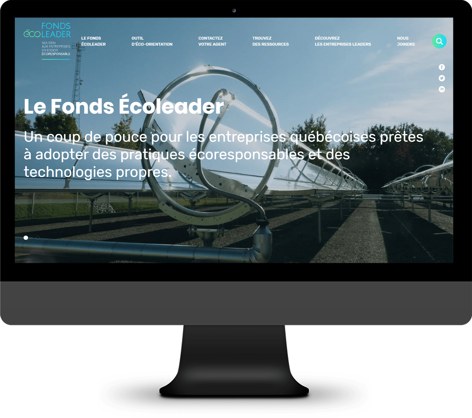 Fonds Écoleader –  Logiciel Web