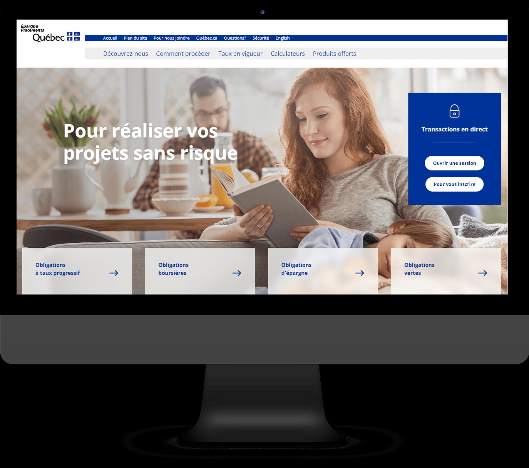 Épargne Placements Québec - Site Web