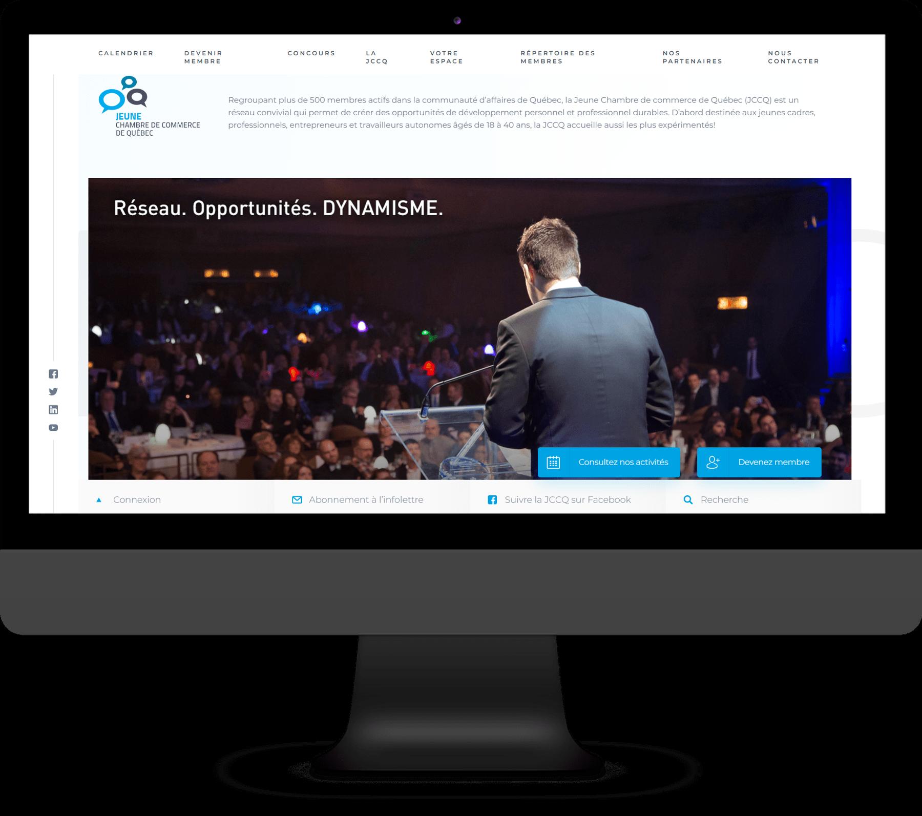 Jeune Chambre de Commerce de Québec - Site Web professionnel