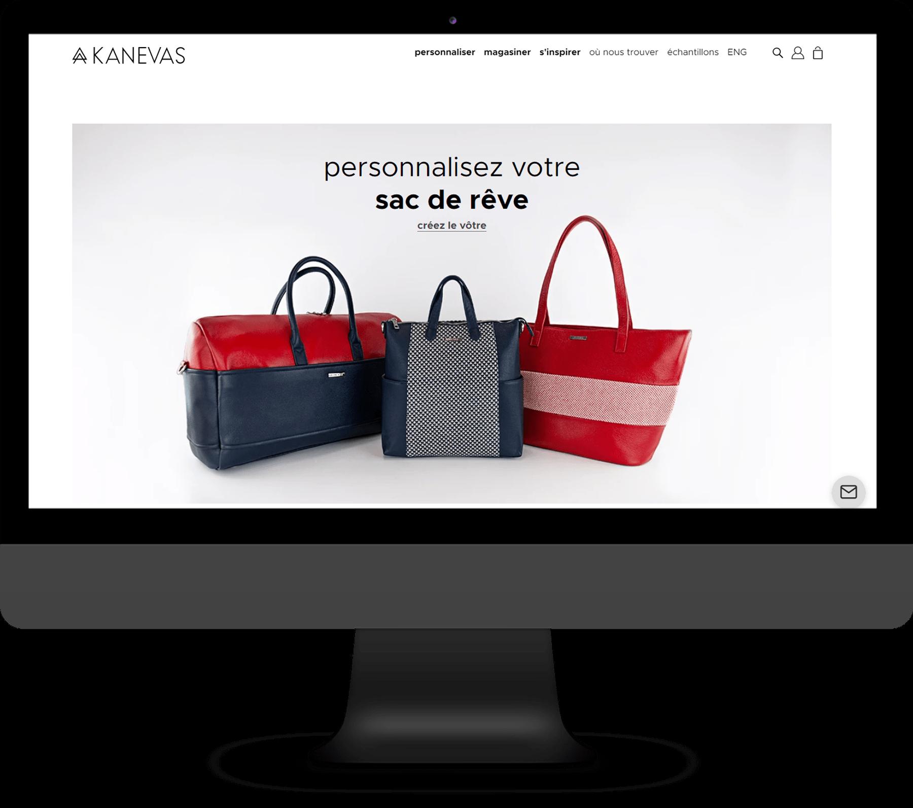 Kanevas - Site de vente en ligne, Application web sur mesure & Visualisateur 3D