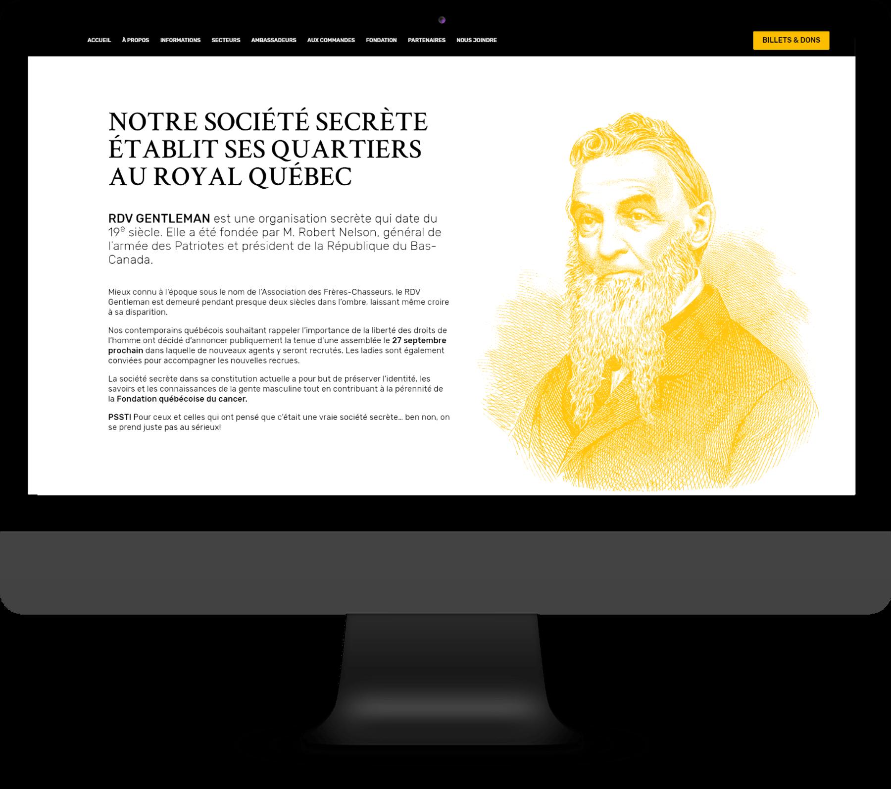 RDV Gentleman – Site Web