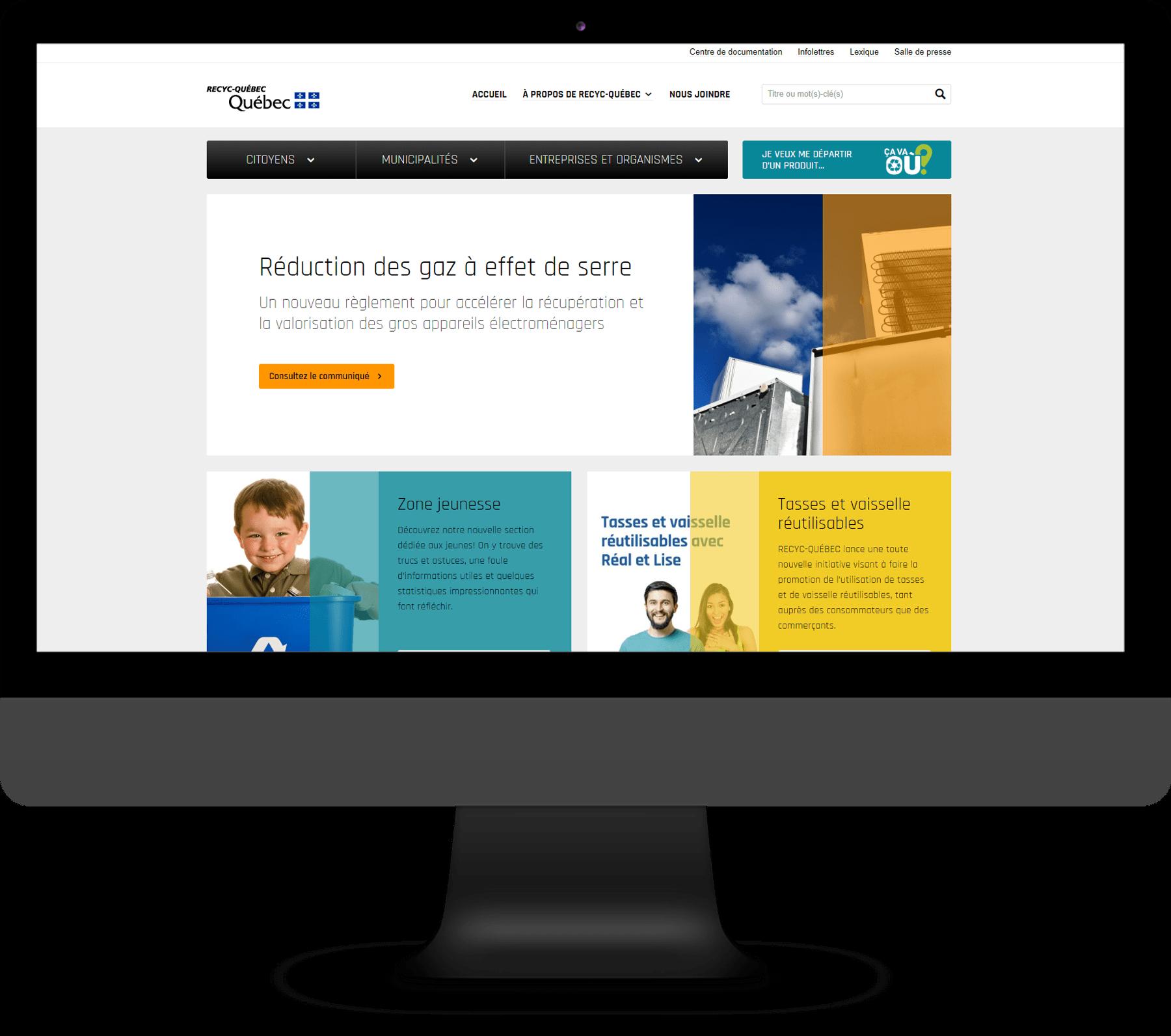 Recyc-Québec – Site Web