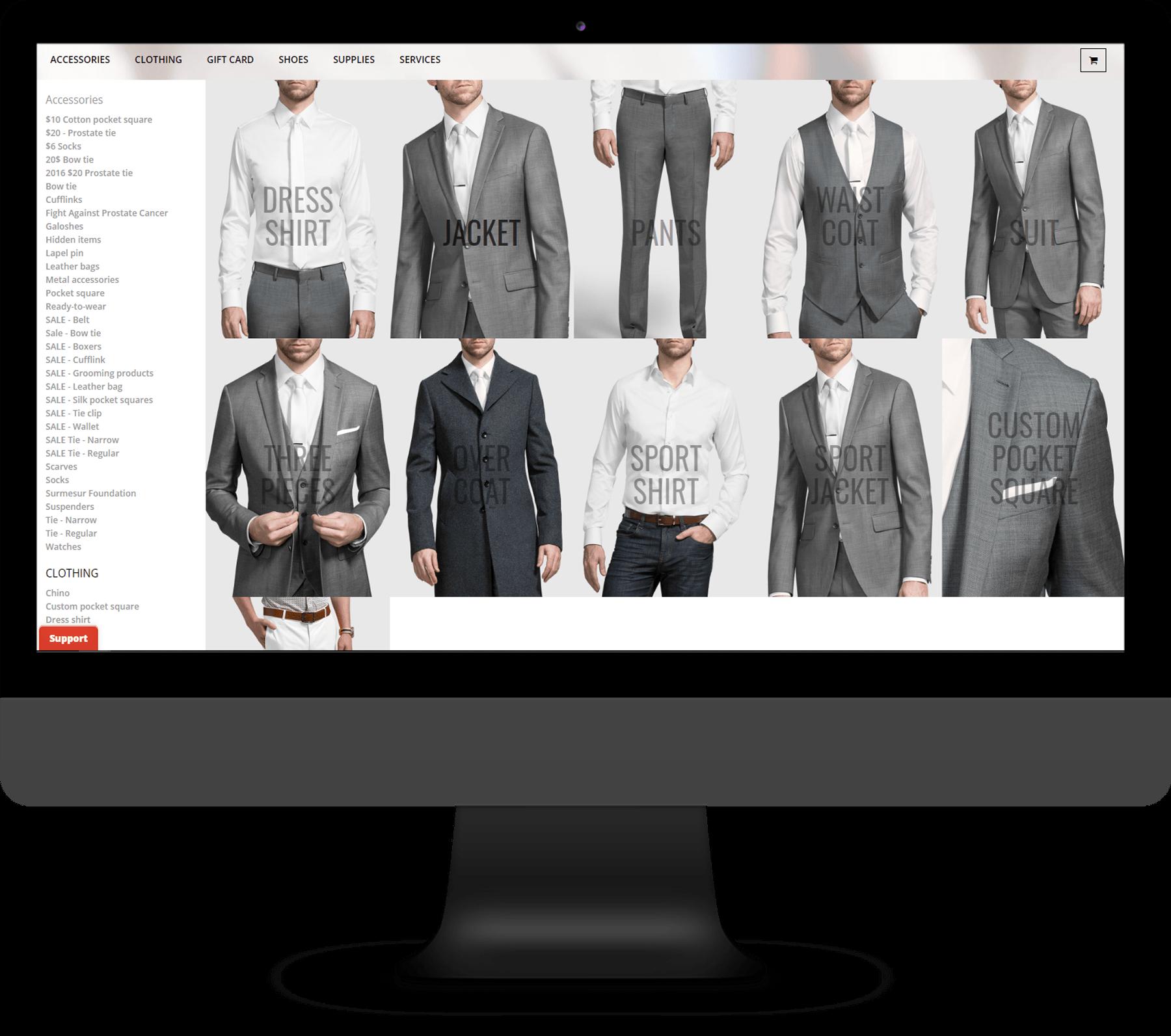 Les boutique Surmesur –  Logiciel Web