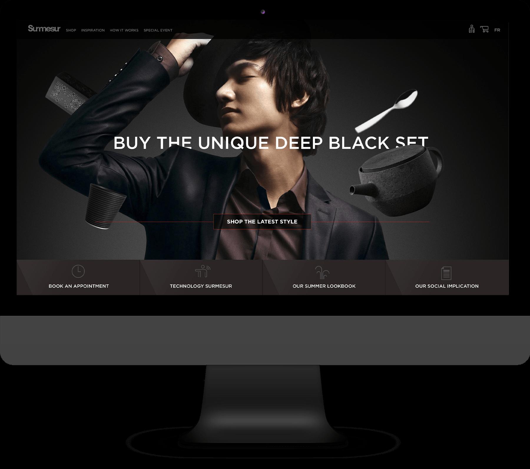 Les boutiques Surmesur - Site e Commerce, Logiciel web & Visualisateur 3D