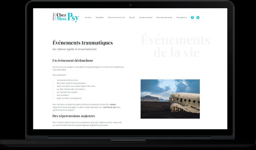 Clinique Chez Mon Psy – Site Web