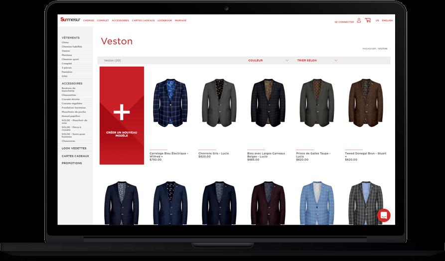Parcourez le commerce en ligne de Surmesur pour découvrir le vaste inventaire