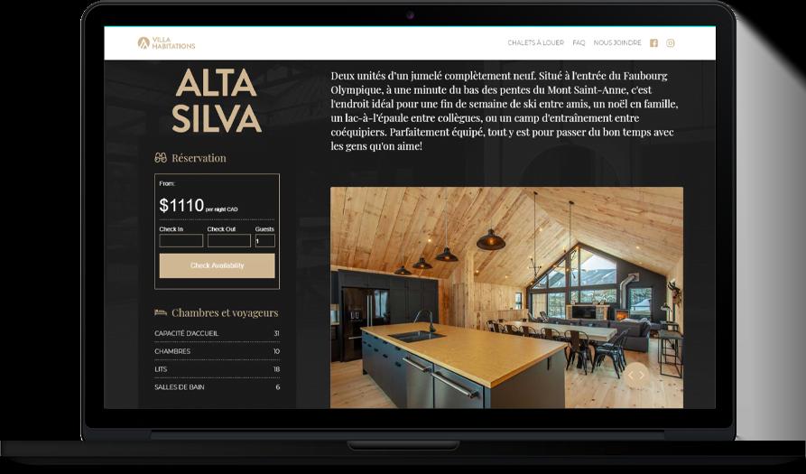 Villa Habitations – Site Web