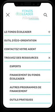 Fonds Écoleader – Site Web