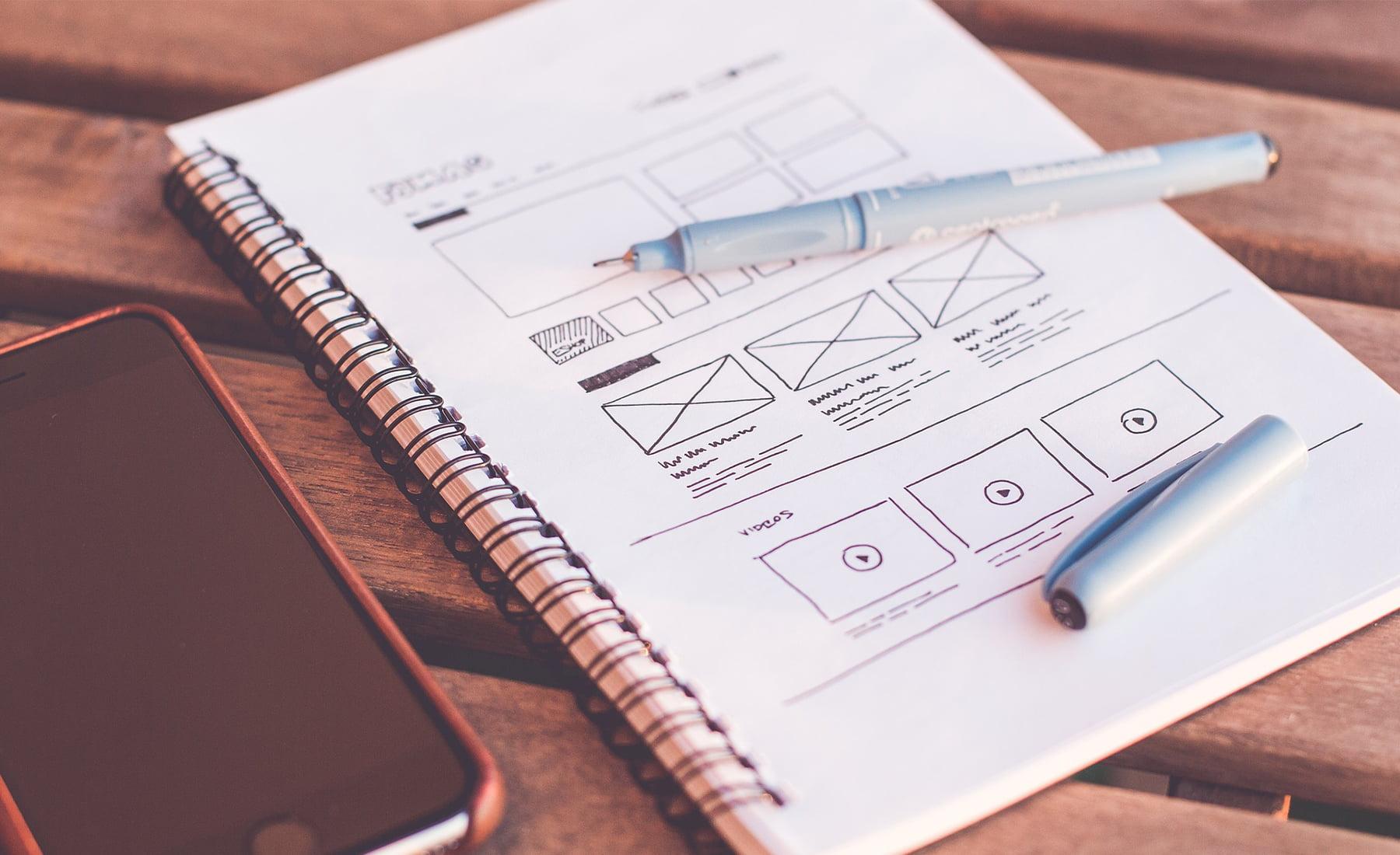 Hiérarchie Visuelle, design de site web
