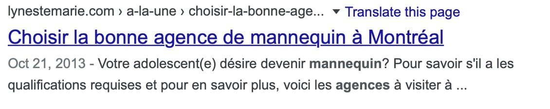 exemple de meta description